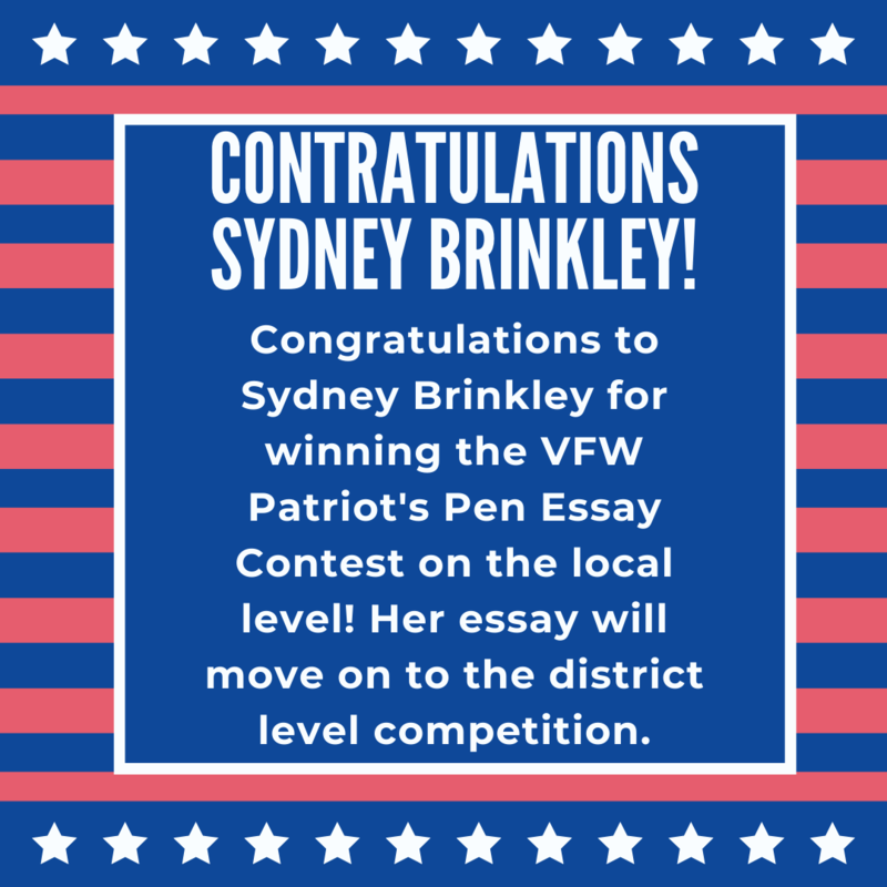 Congratulations Sydney Brinkley