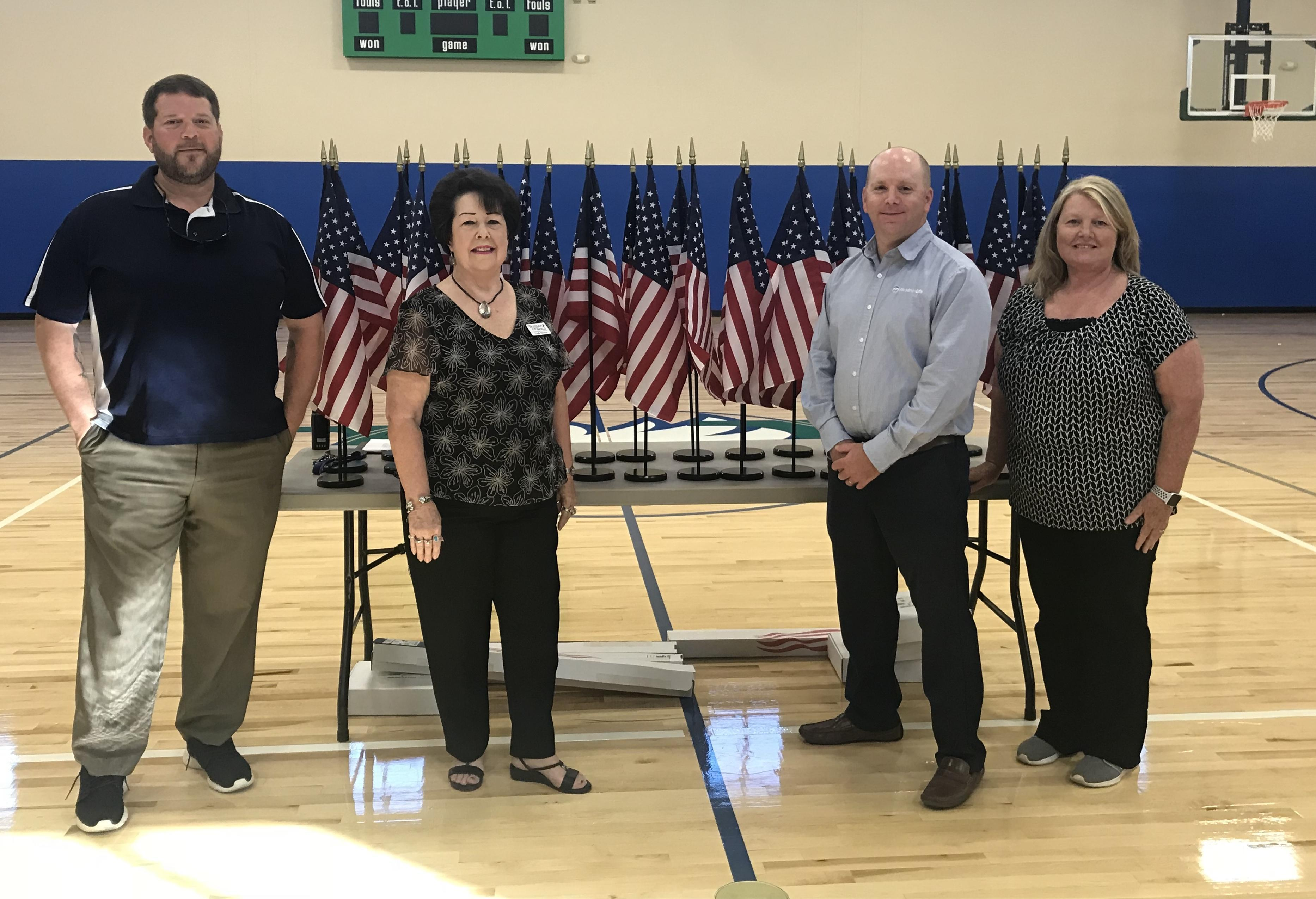 Woodmen Life Donates Flags to UCA Middle School Image