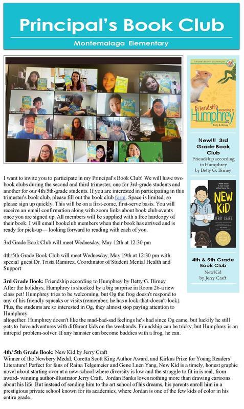 Principal's Book Club - Spring 2021