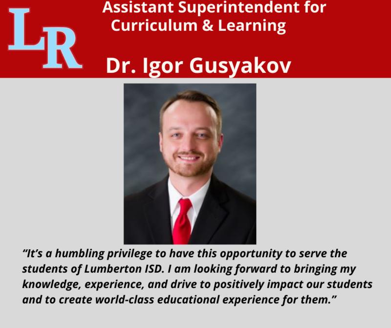 Dr Gusyakov Joins Lumberton ISD