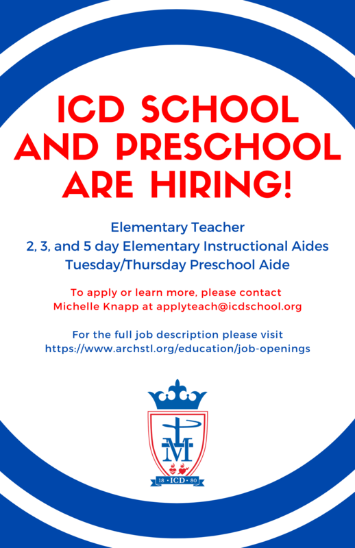 ICD School is Hiring! Featured Photo