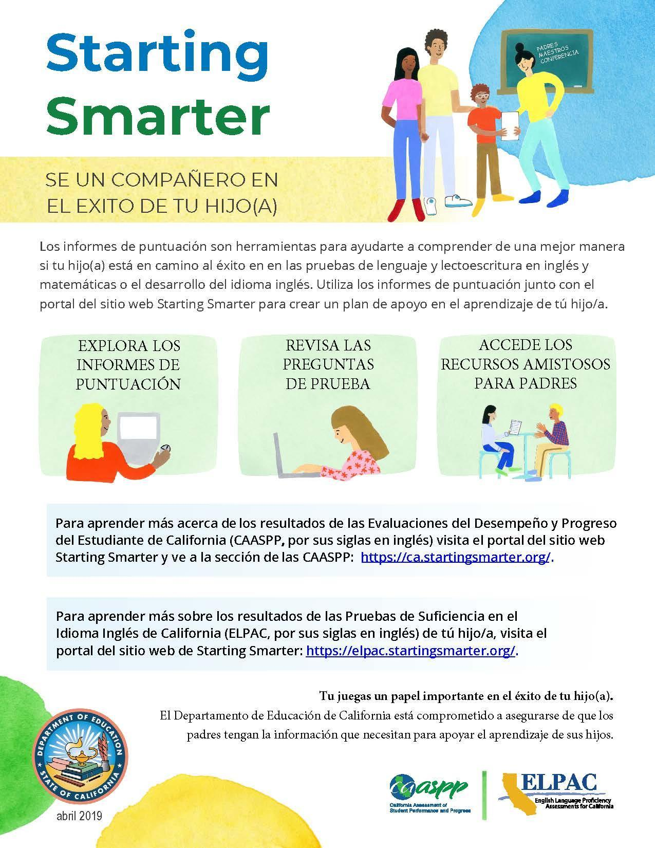 Starting Smarter Parent Flyer Spanish