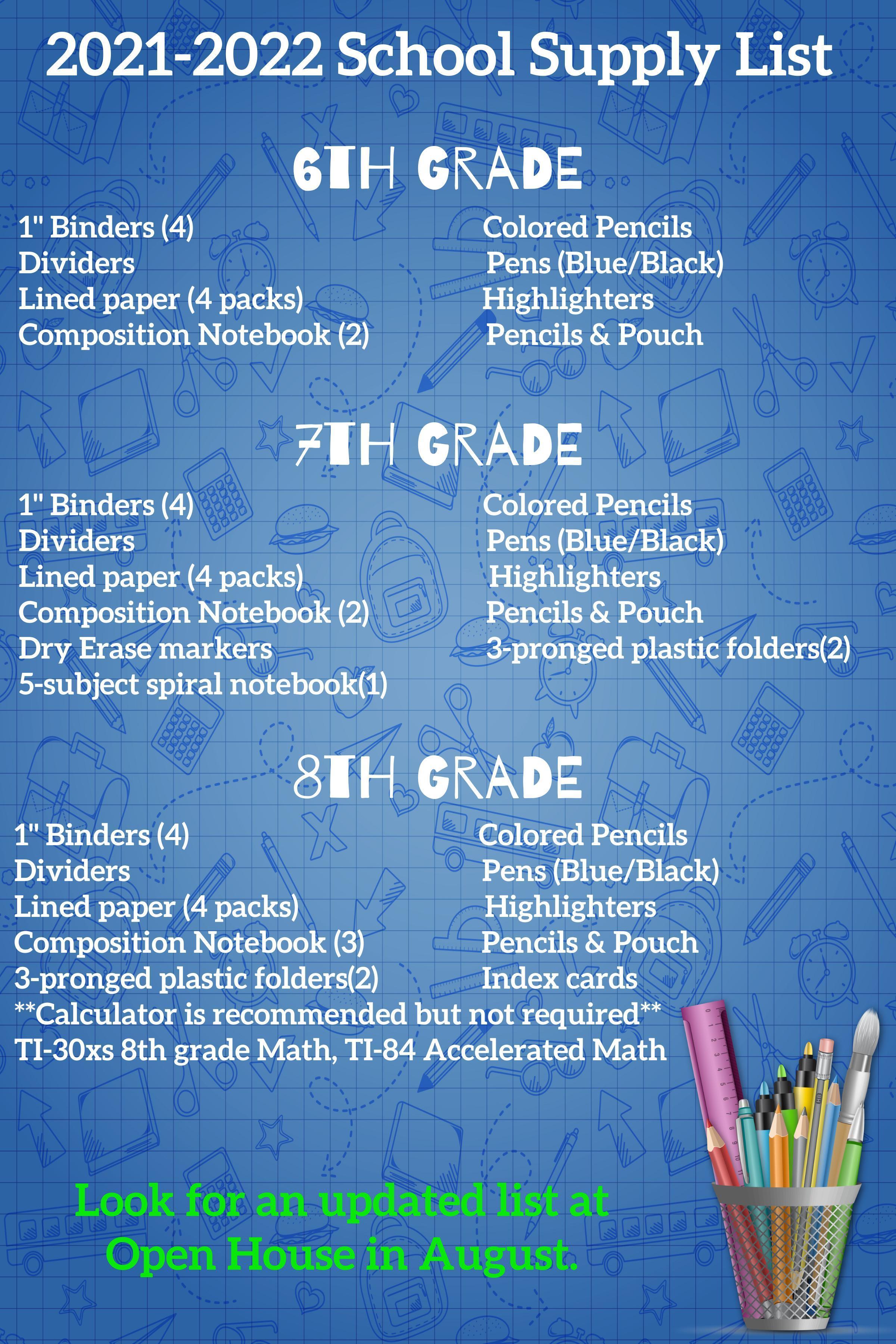 21-22 Supply List