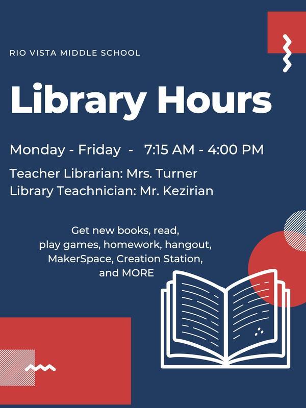 Library Open 7:15am-4pm Mon-Fri