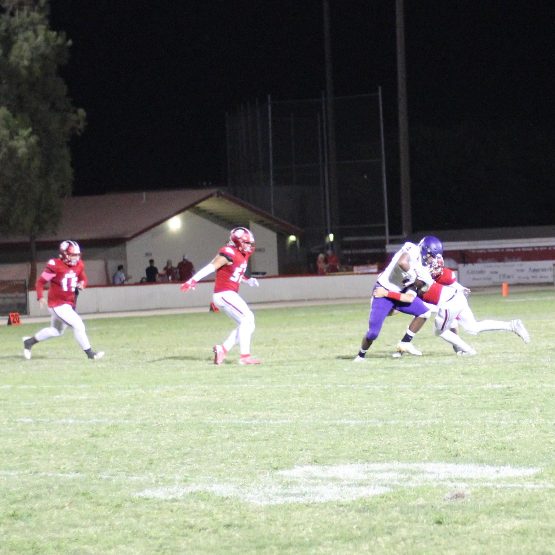 Varsity players against Lemoore