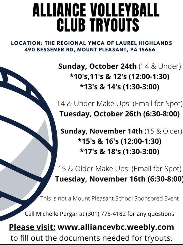 Alliance Volleyball Club Tryouts Flyer-Click here to view the flyer. Featured Photo
