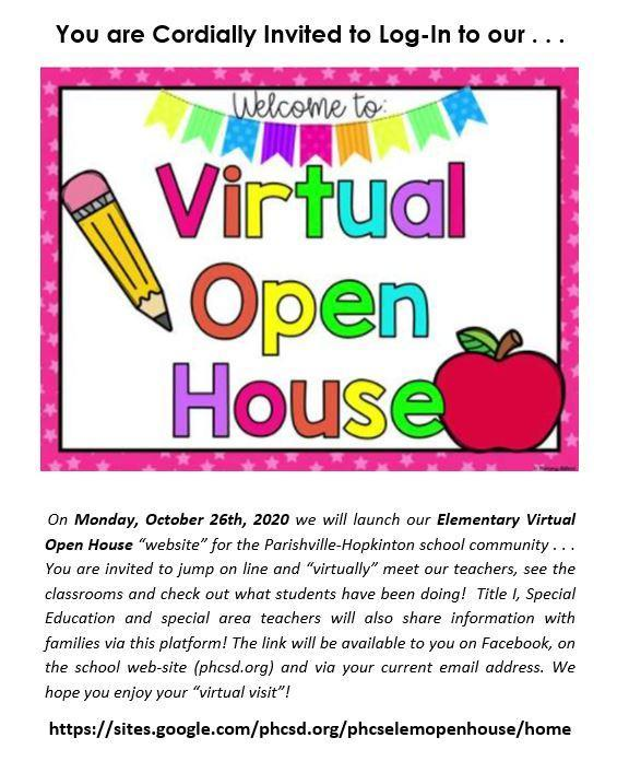 It's LIVE!  Elementary Virtual Open House Featured Photo