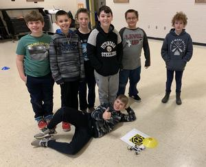 5th Graders have fun coding drones