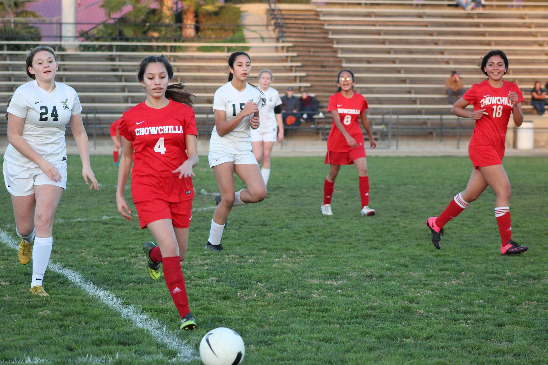 Girl's Playing Soccer vs Liberty