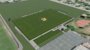 Concept image of Ukiah High School's new all-weather soccer and sports field