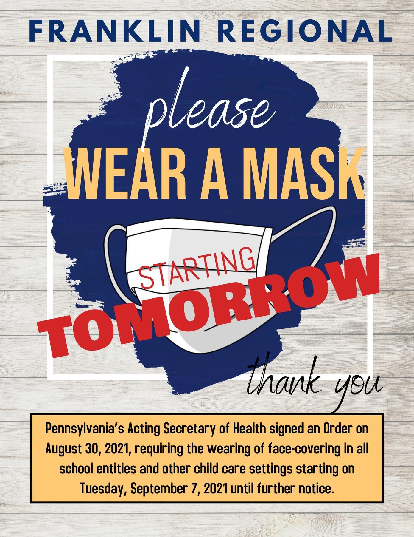 Face Mask Reminder