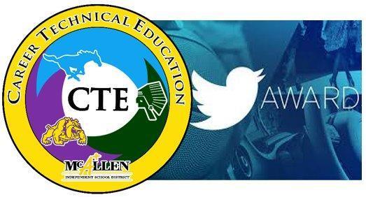Memorial CTE Twitter award/seal