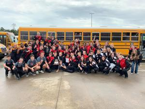 Photo of Trojan Band after UIL contest