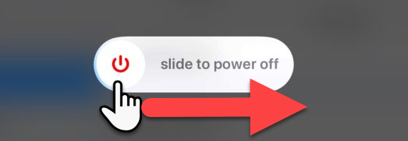 slide to power off