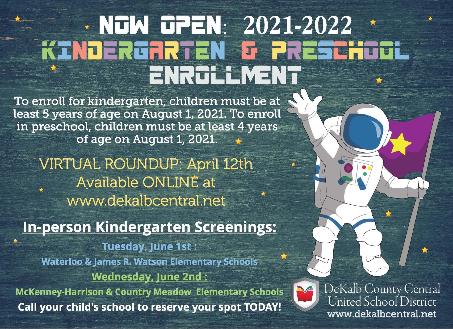 Kindergarten and Preschool Enrollment Information