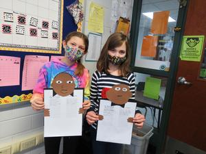 Lee third-graders show their MLK papers complete with their own dreams.