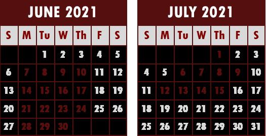 2021 STP Calendar