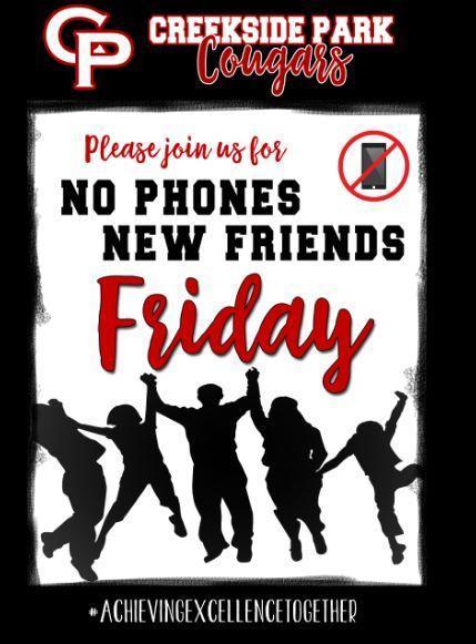 No Phones New Friends Friday