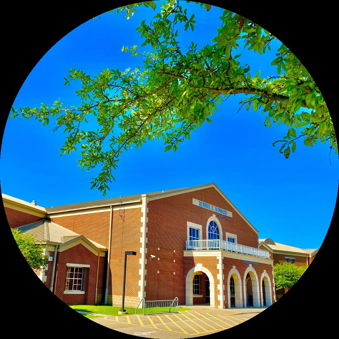 entrance to Howard Junior High