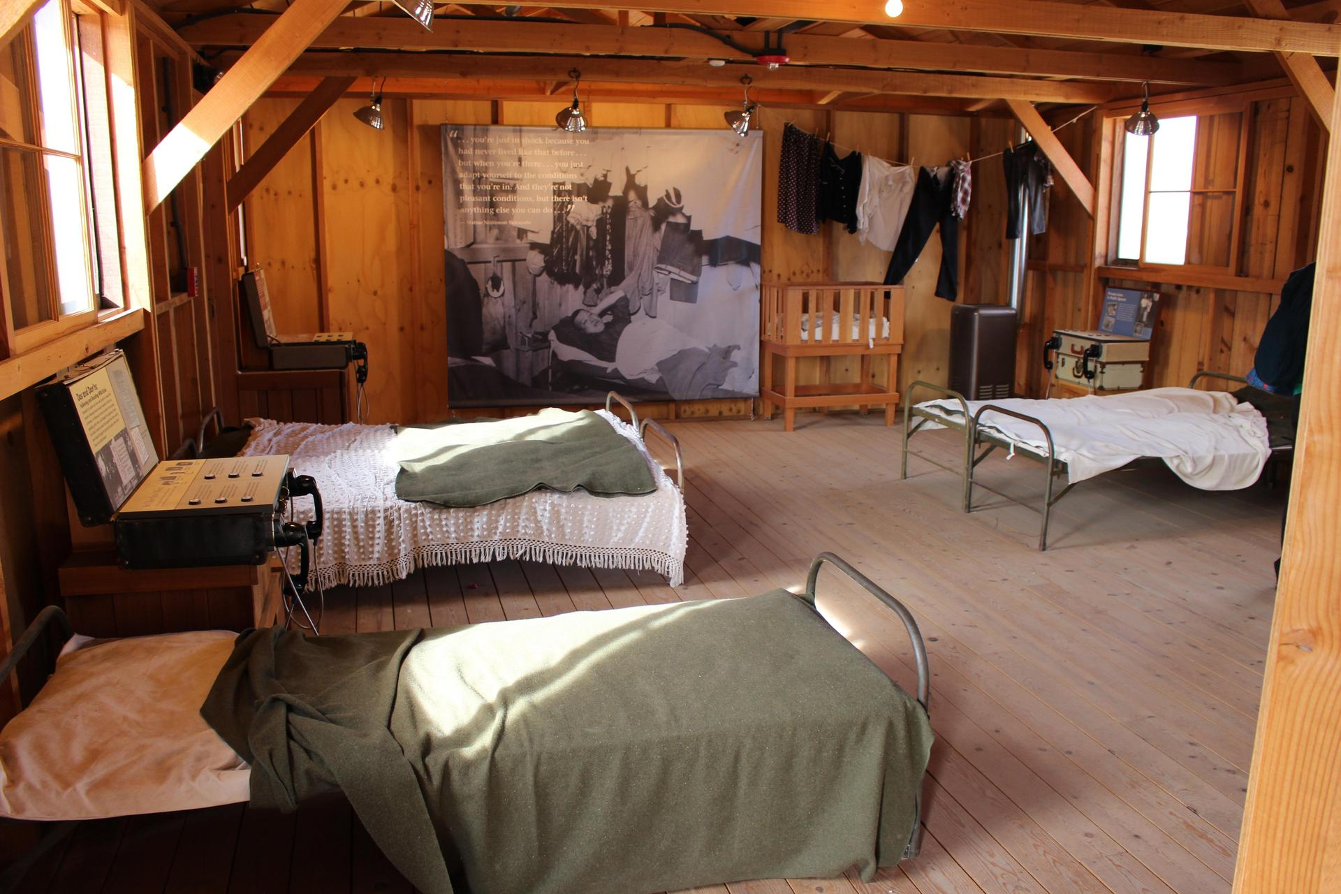 Visit the reconstructed barracks