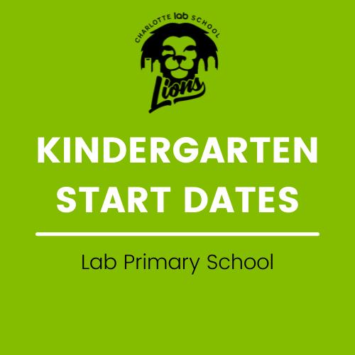 Kindergarten Start Dates - week of 8/30/21 Featured Photo