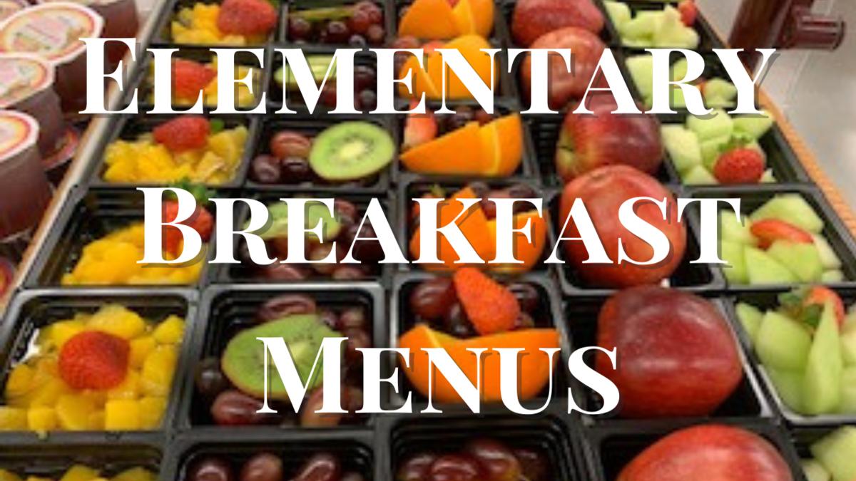 Elementary Breakfast Menus