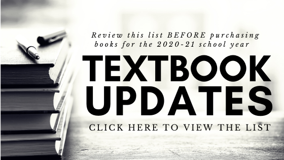 Textbook Updates/Do not purchase