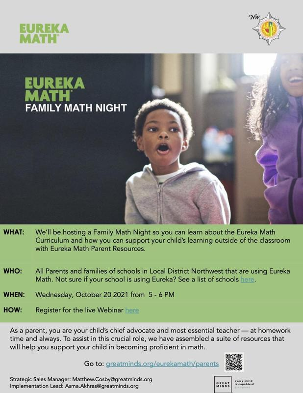 Local District Northwest Family Math Night Featured Photo