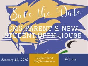 CMS open house flyer