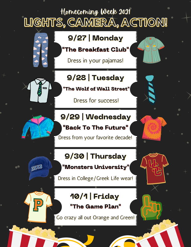 Homecoming Week 2021 is September 27-October 1 Featured Photo