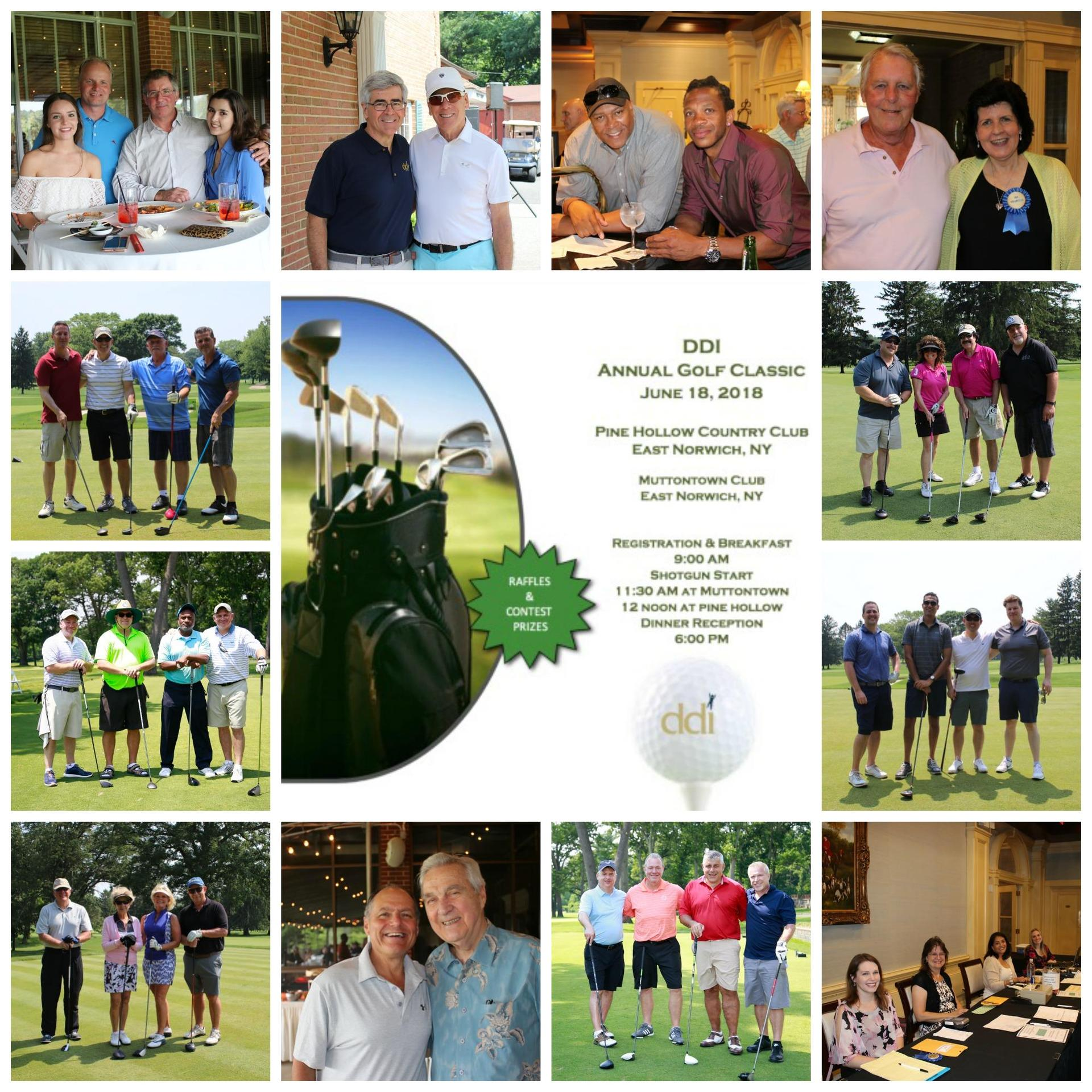 Collage of DDI 2018 Golf Classic attendees