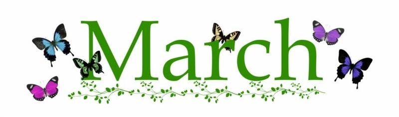 March butterflies calendar topper