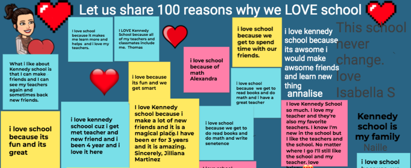 100 Reasons why we love school
