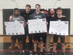 3 BC wrestlers earn region champ honors