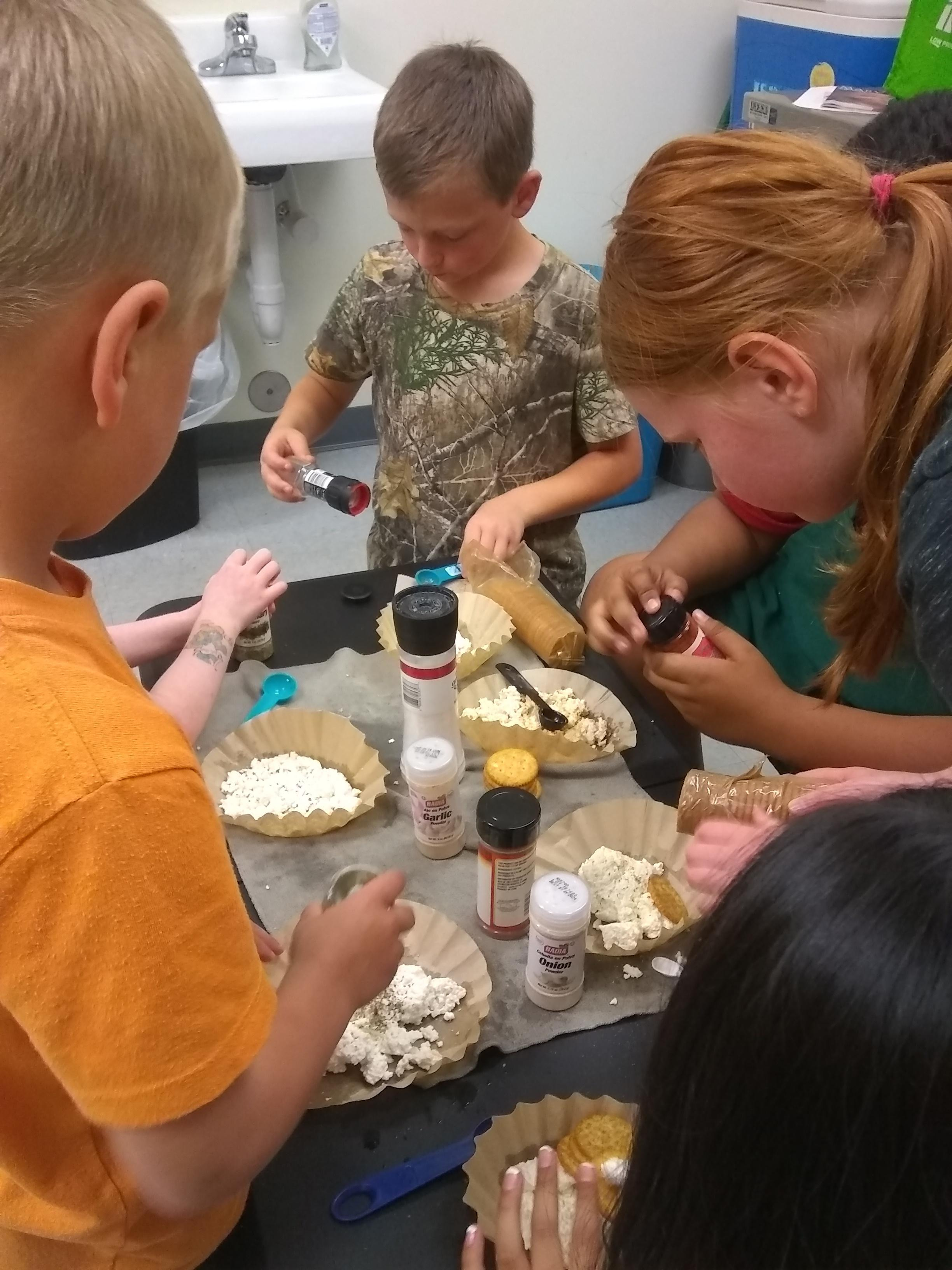 students custom flavoring their cheese
