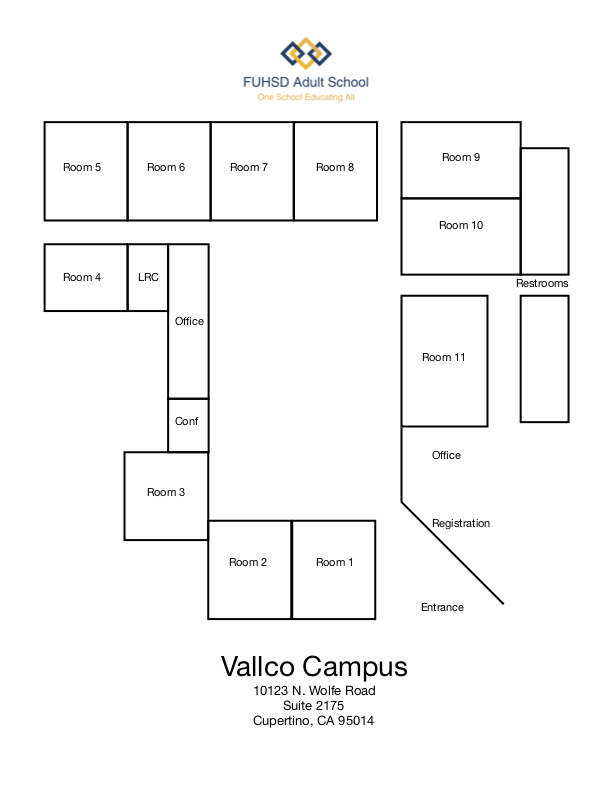 Homestead High School Campus Map.Campus Maps And Hours Discover Fuhsd Adult School Fuhsd Adult