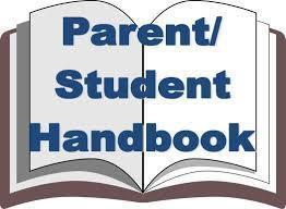 parent student handbook written on a book