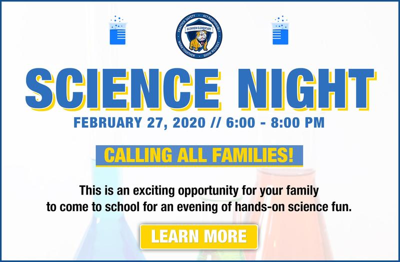 Glenview Family Science Night on February 27 at 6:00 PM