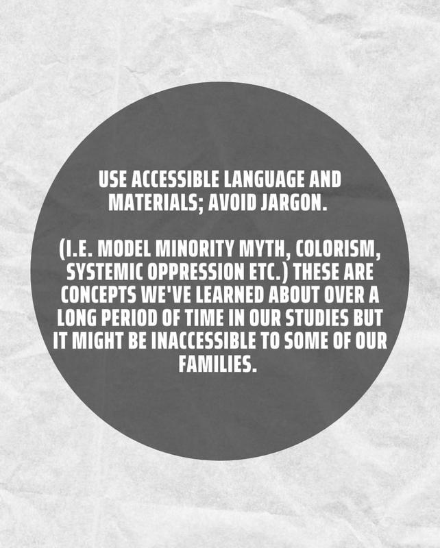 use accessible language