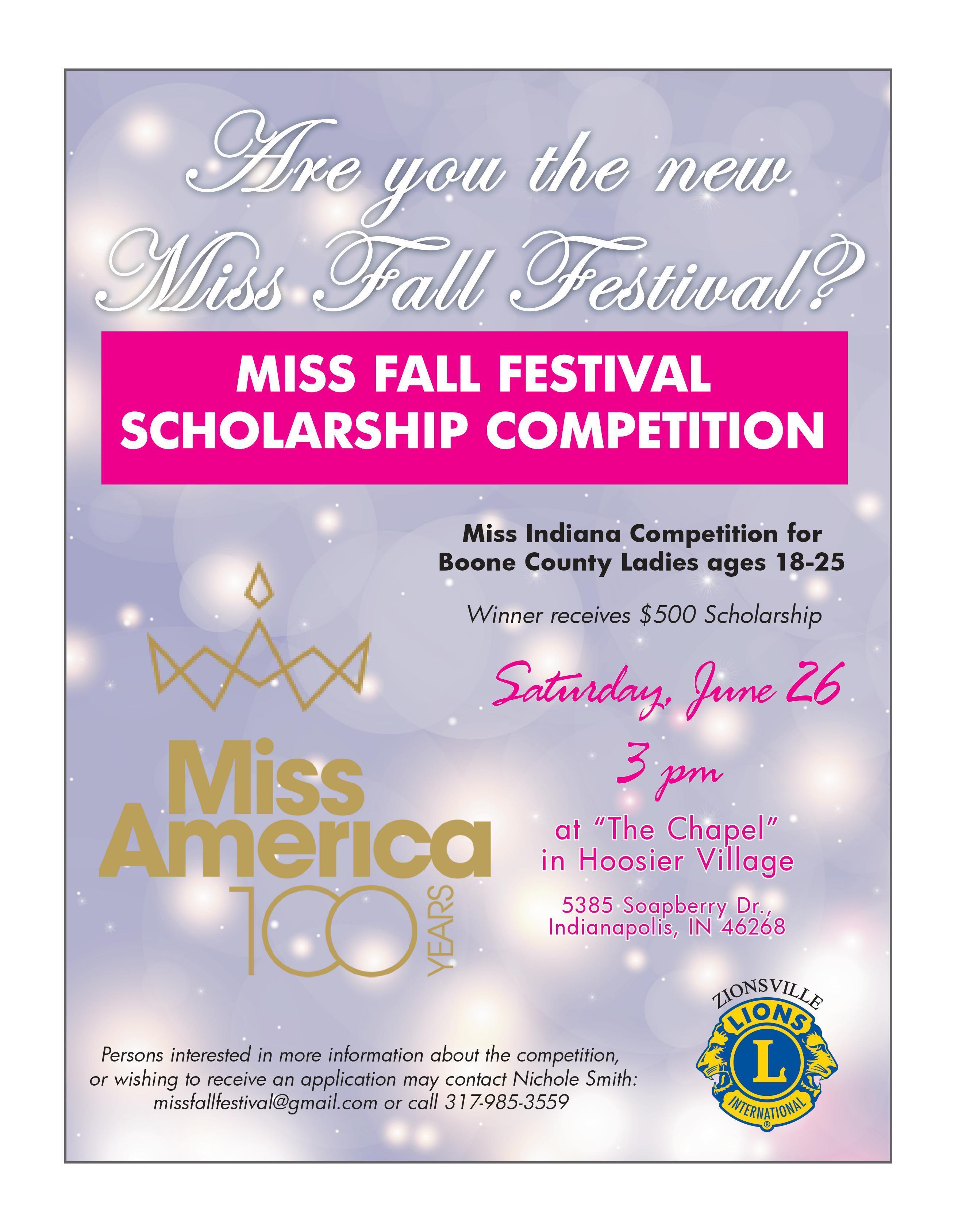 Miss Fall Festival Scholarship