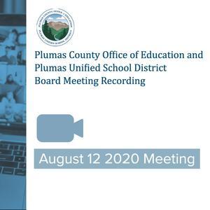 8/12/2020 PCOE/PUSD board meeting recording