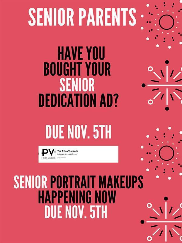 Senior Parents: Have you bought your Senior dedication ad? Thumbnail Image