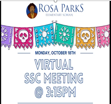 SSC Meeting October 18 at 3:15 P.M. Featured Photo
