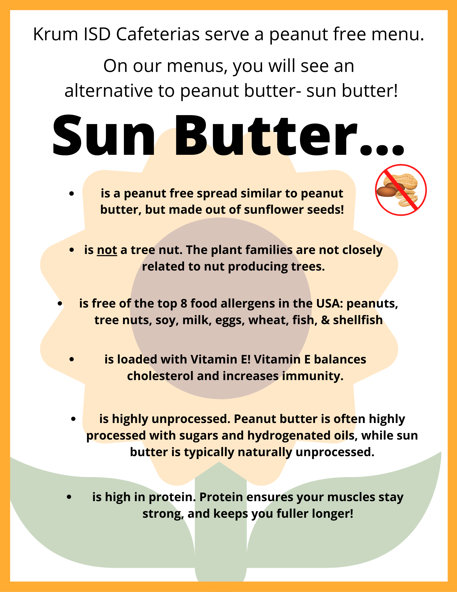sun butter info graphic