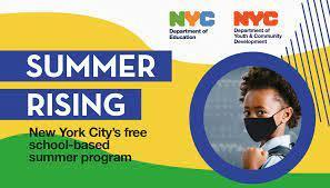 Summer Rising NYC DOE with student with black mask