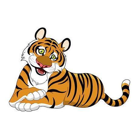 A clip art image of a tiger.