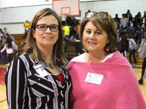 LJH Counselor Aimie Patrick with David's Legacy mom Maurine Molak