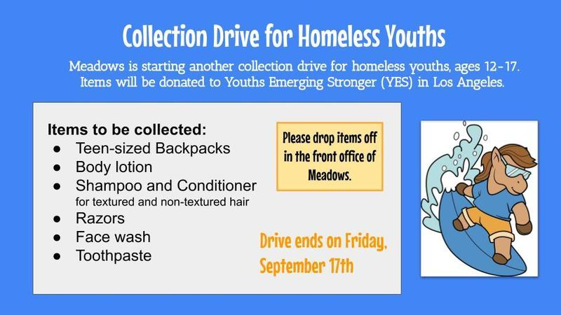Collection Drive for Homeless Youths Thumbnail Image