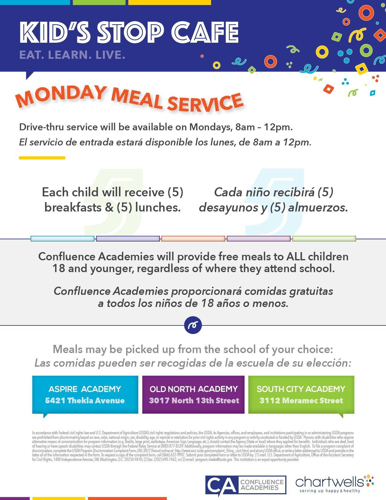 Monday Meal Service
