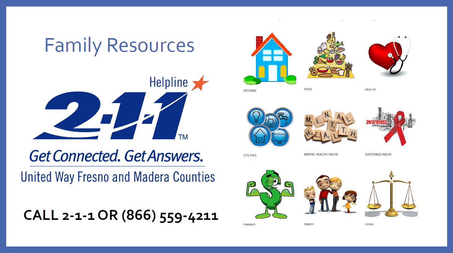 Family Resources - Call 211